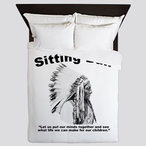 Sitting Bull: Peace Queen Duvet